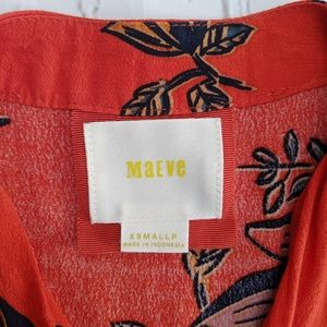 Maeve Dresses - Maeve Noronha Orange Floral Wrap Dress